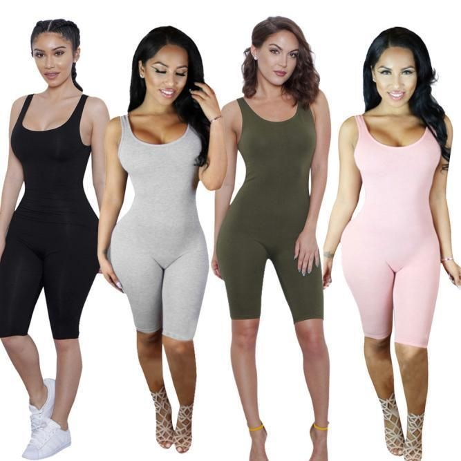 Womens Jumpsuit Backless Condole Belt Sleeveless Bandage Sport Bodysuit  Rompers 8e17f9403
