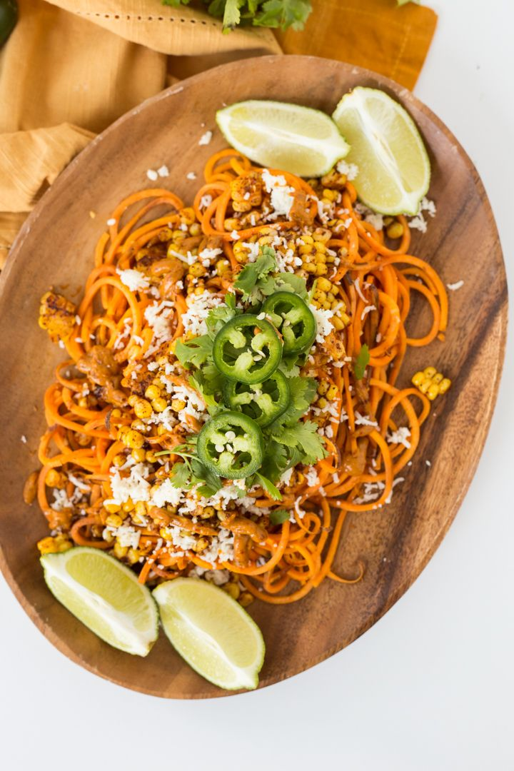 Mexican Street Corn Sweet Potatoes With Creamy Chipotle Avocado Sauce