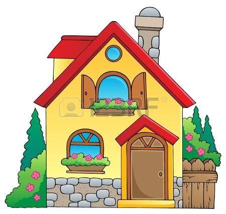 Stock Photo Dibujo De Casa Ilustracion De Casa Dibujos Para Ninos