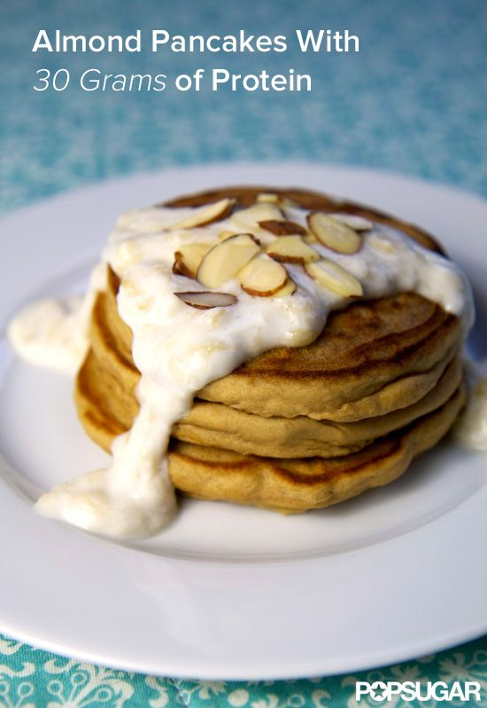 Bite Into Our High-Protein Pancakes With Banana Cream Sauce