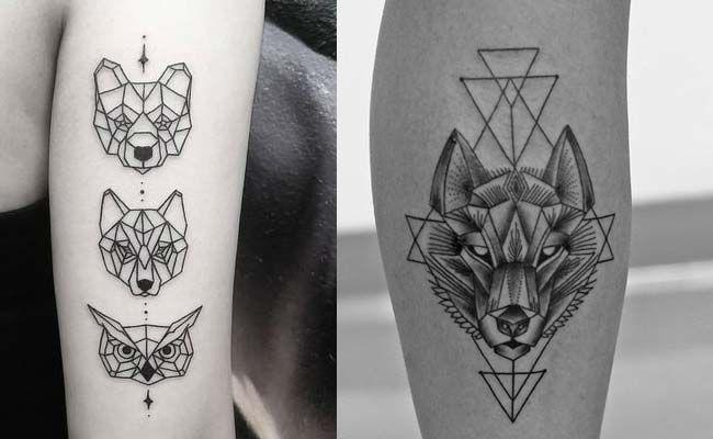 Tattooskid Tatuajes Animales Geometricos Leon Tattoo Tattoos
