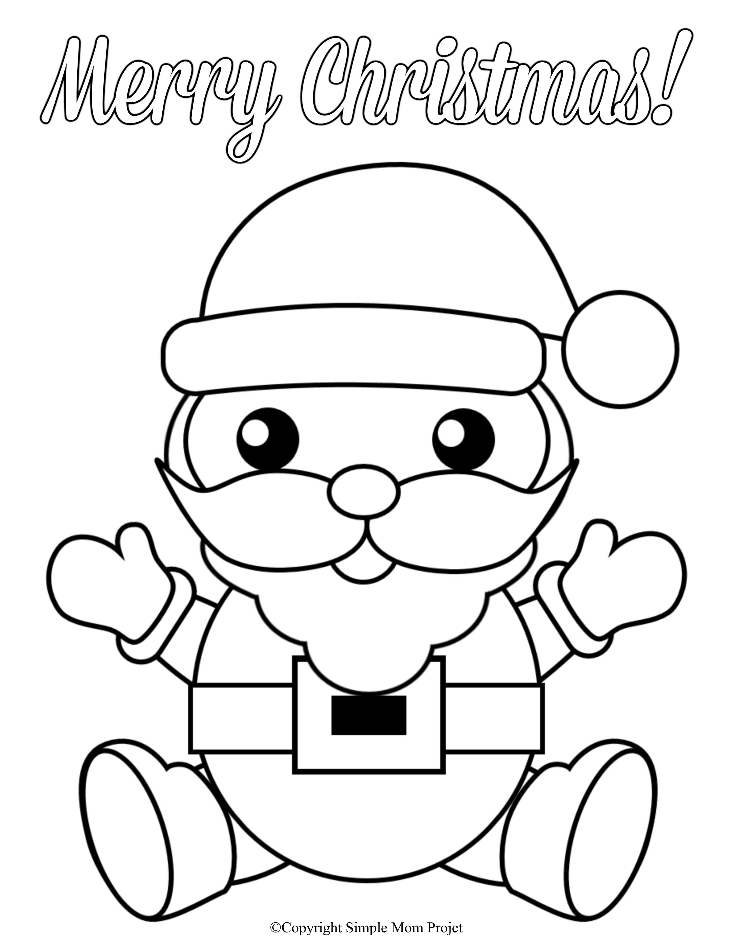 Free Printable Christmas Coloring Sheets For Kids And