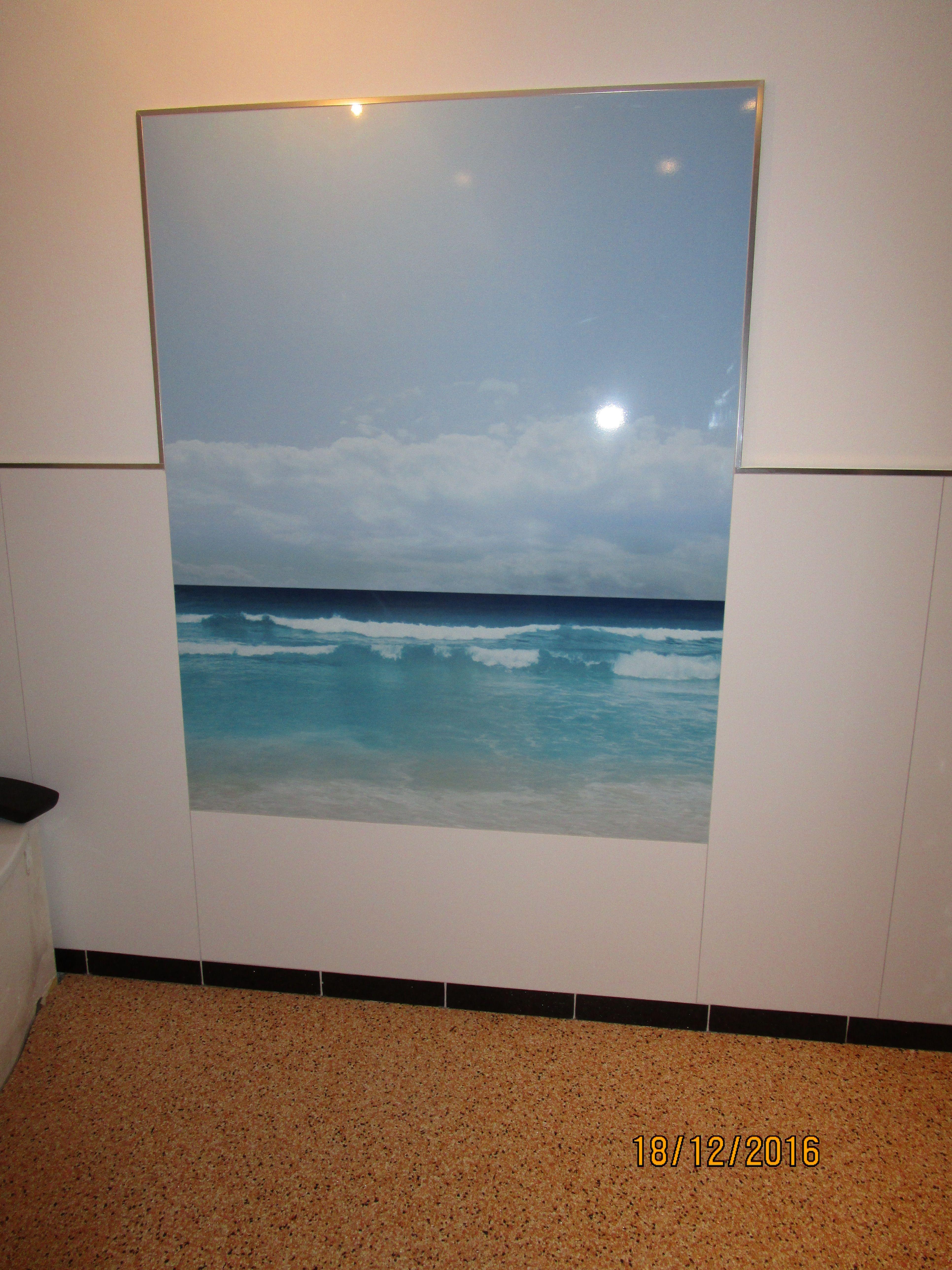 Wandbild fürs Bad aus Alu-Verbund | Dusch- & Bad-Rückwände ...