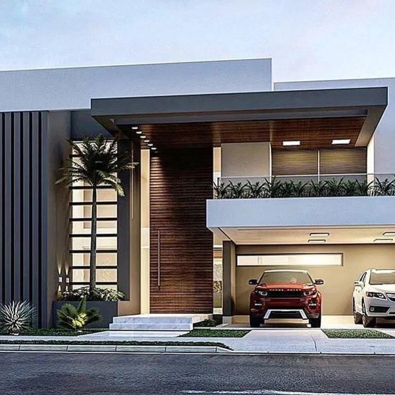 35 Fantastic Luxury Modern House Design Ideas Facade House Dream House Exterior Modern Exterior House Designs