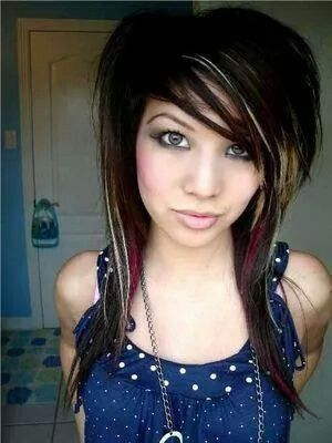 pinlucy mora on hair styles  emo girl hairstyles emo