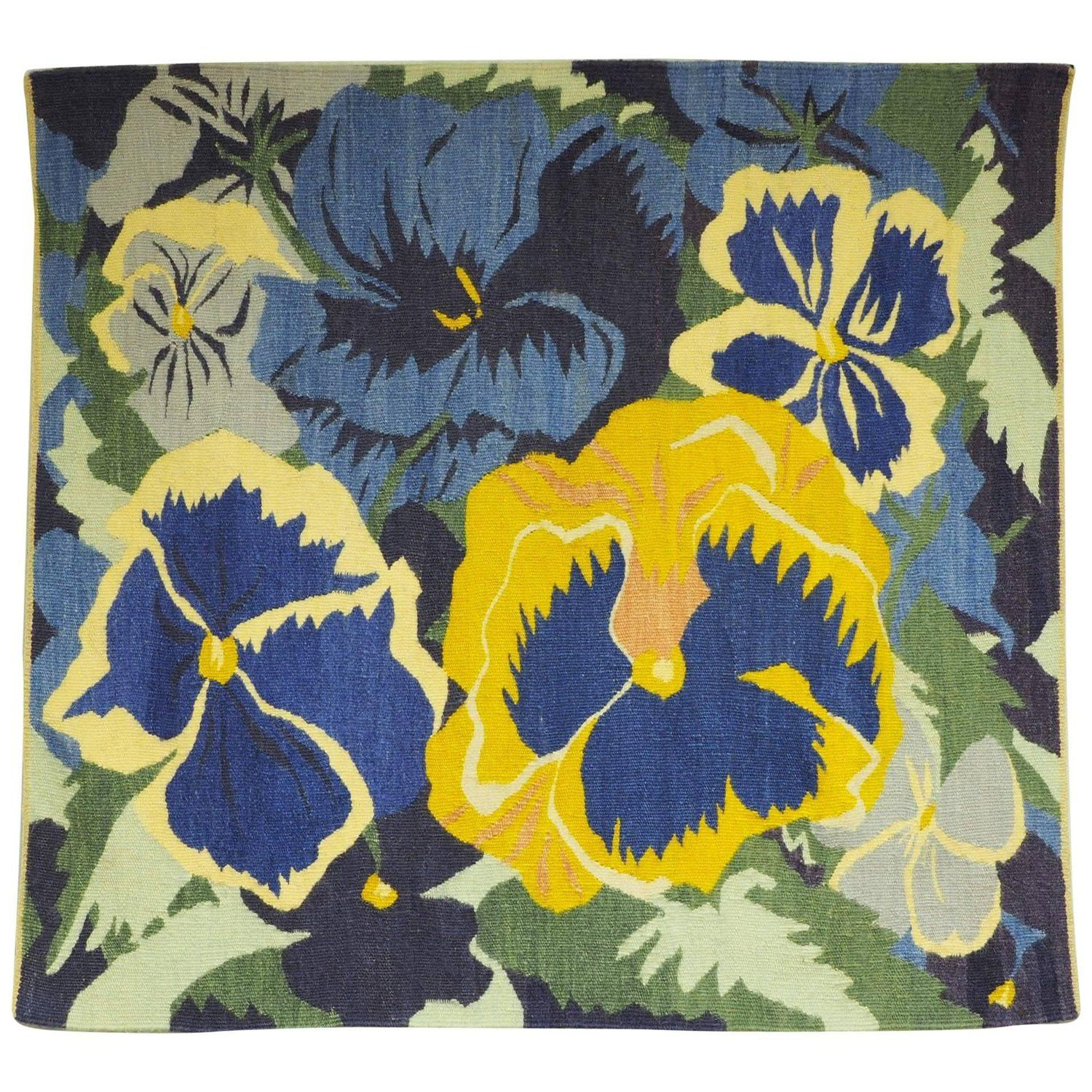 Large Floral Woven Wool Tapestry Wall Hanging | Tapestry wall ...