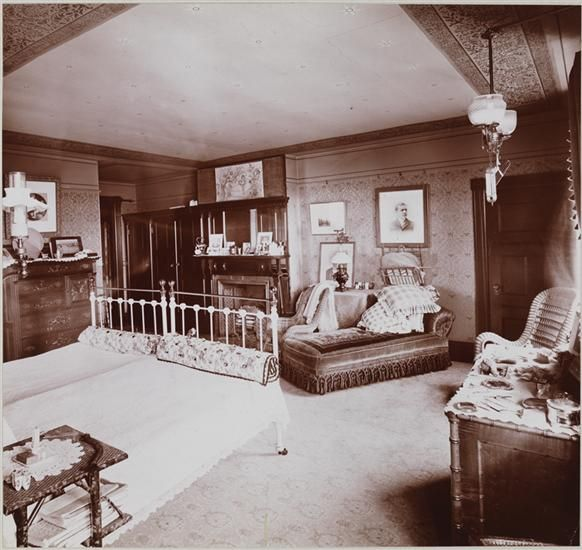 byron company new york n y interiors bedroom museum of the city of new york c 1900. Black Bedroom Furniture Sets. Home Design Ideas