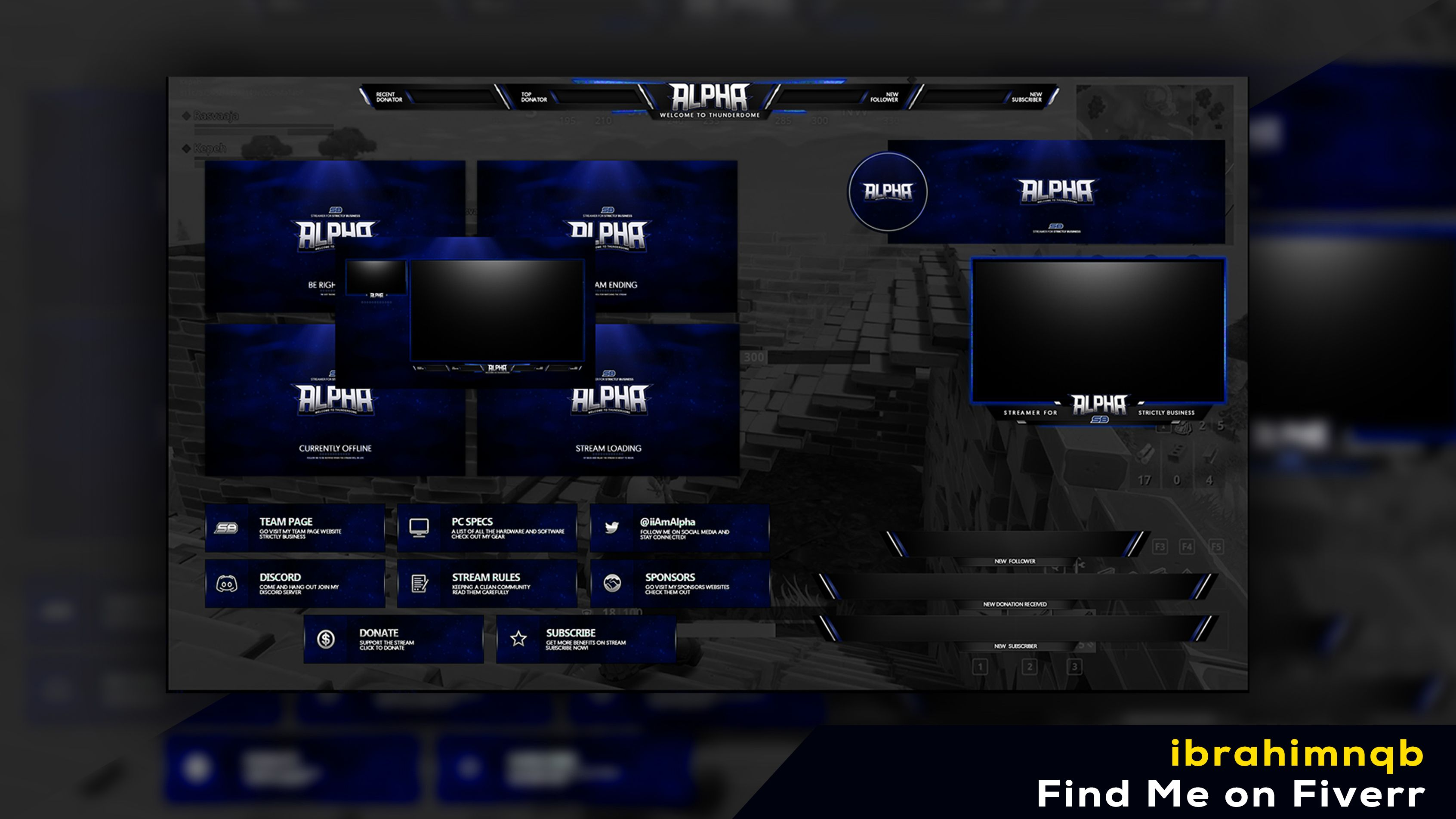 twitch overlay in 2020 Graphic design services, Overlays