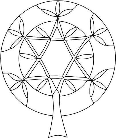 Tree Of Life Pattern Religious Spiritual Stained Glass Inspiration Tree Of Life Pattern