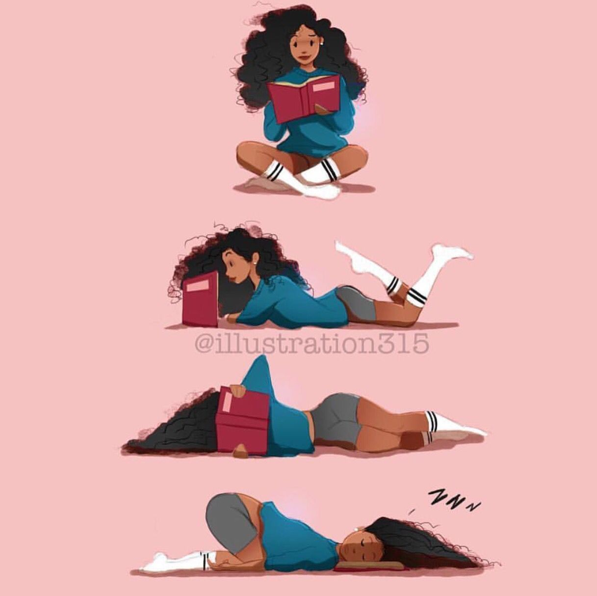 Image result for black woman reading cartoon