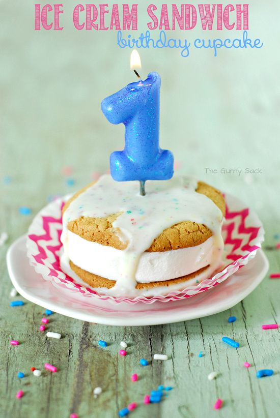 Ice Cream Treats Ice Cream Sandwich Birthday Cupcake Birthday