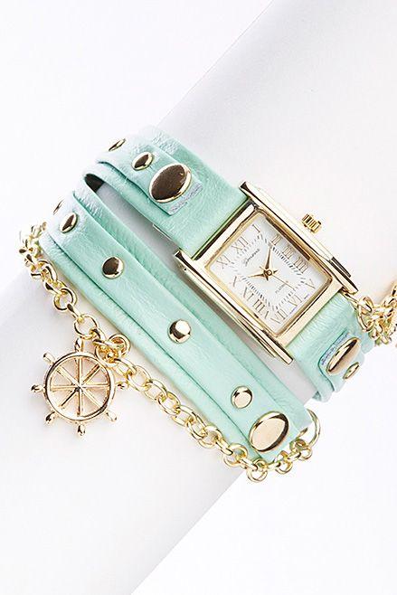 Mint Anchor Bracelet Watch