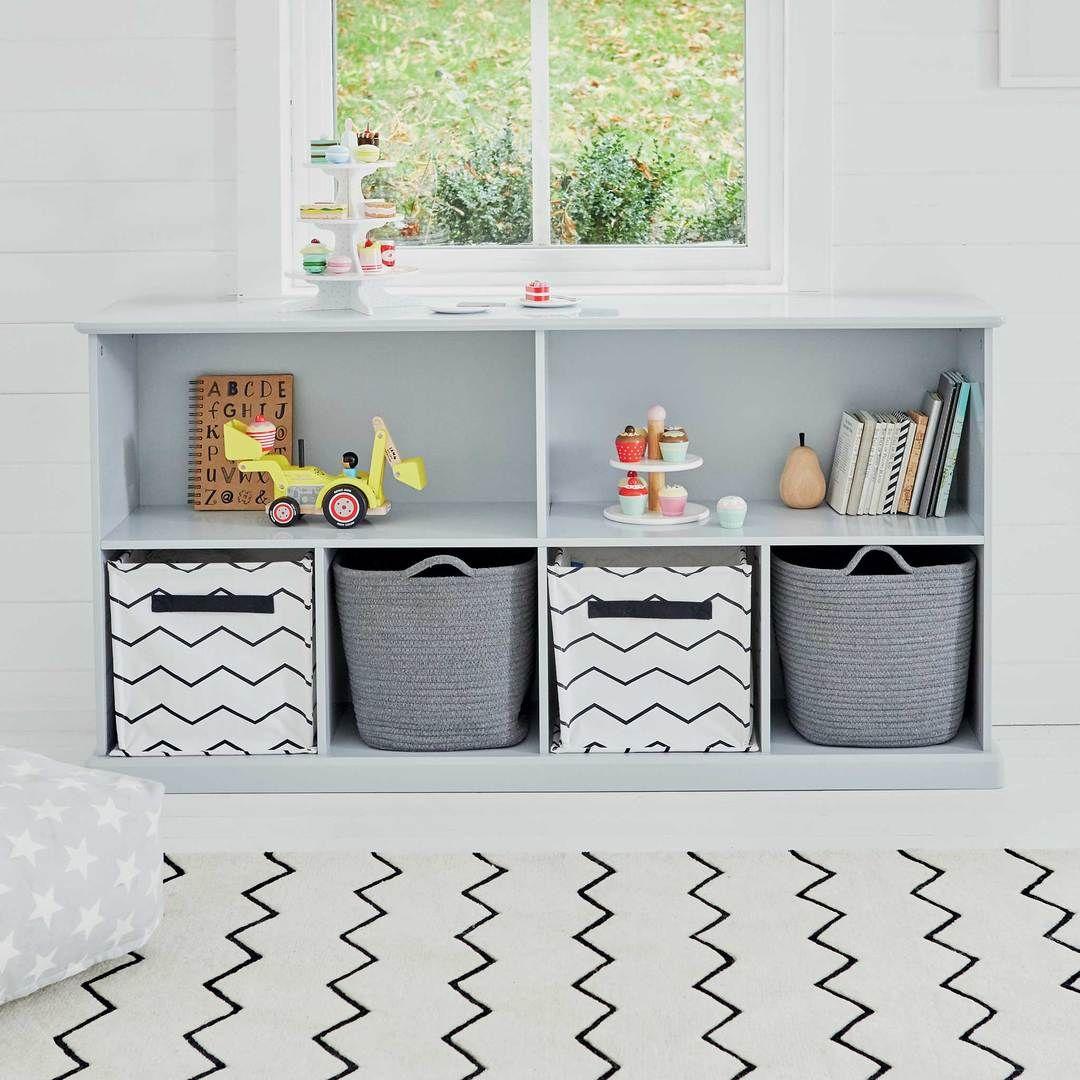 Abbeville Long Shelf Unit Cloud Grey
