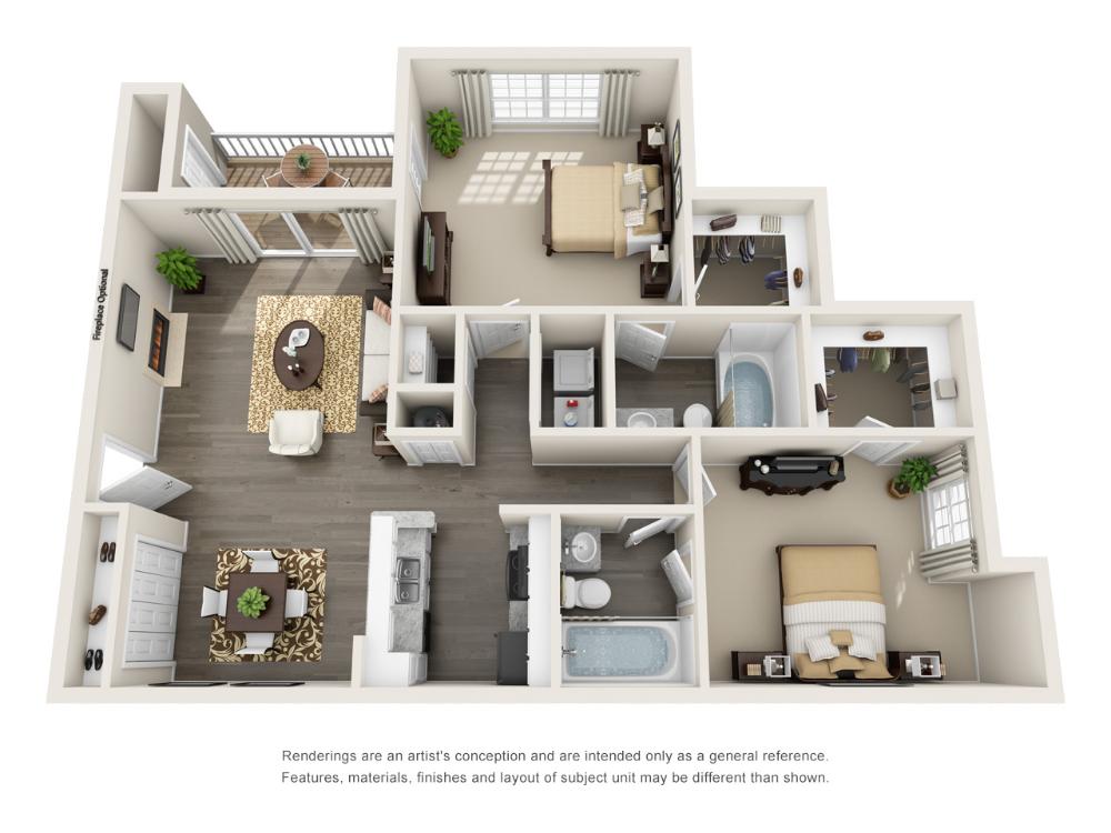 1, 2, & 3 Bedroom Apartments in Mauldin, SC 2 bedroom