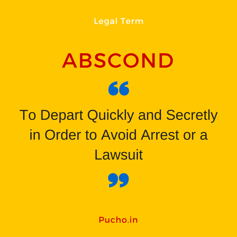 Legal term Abscond Meaning Favorite words, Legal