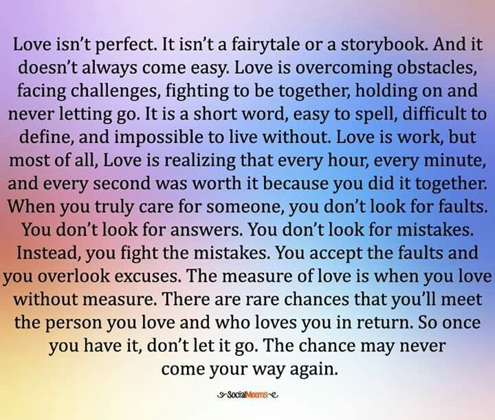Love Isn T Perfect Short Words Morning Mantra Post Quotes