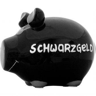 #schwarzgeld #geld #geschenk #gift #schwarz #sparschwein Schwarzgeld – Keramik-Sparschwein