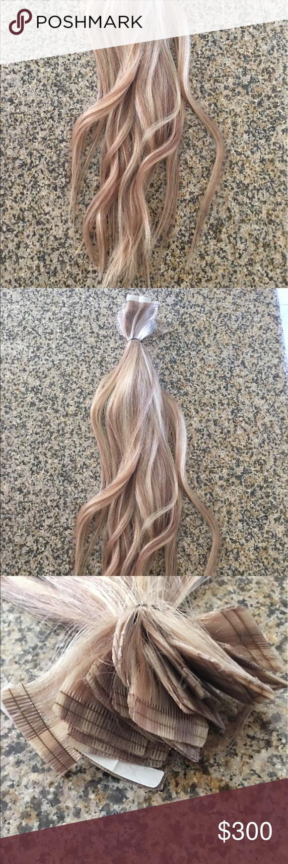 Babe Hair Extensions Babe Hair Extensions Tape Ins 22 Inches Cut A
