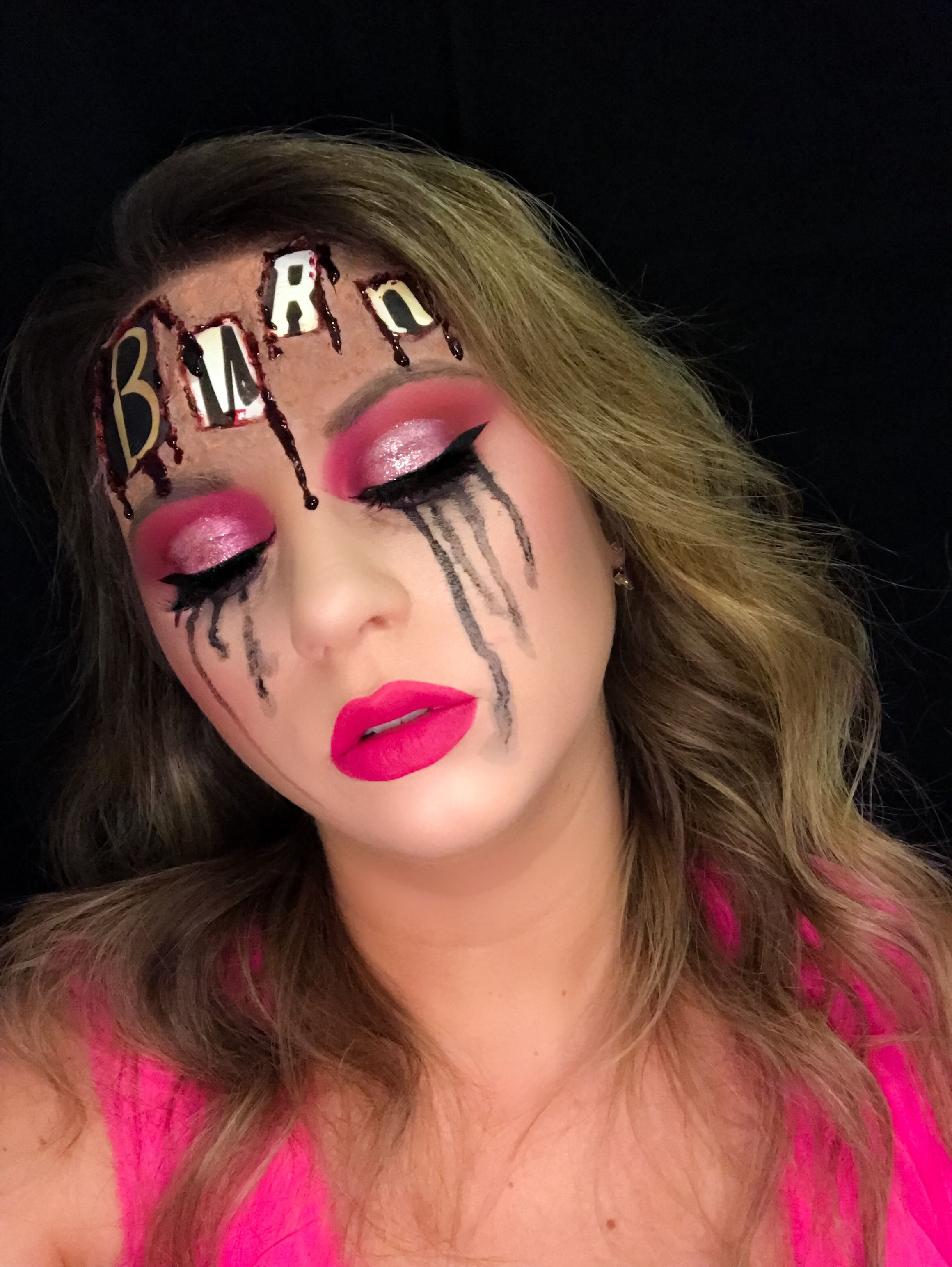 Mean Girls Burn Book Halloween Makeup Halloween Makeup Looks Girl Halloween Makeup Holloween Makeup