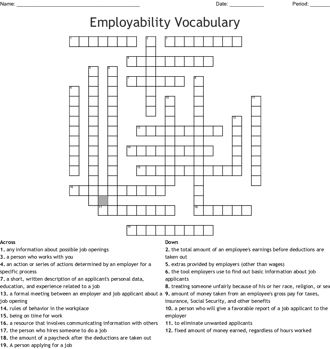 Pre Made Crossword You Can Print Includes Answers