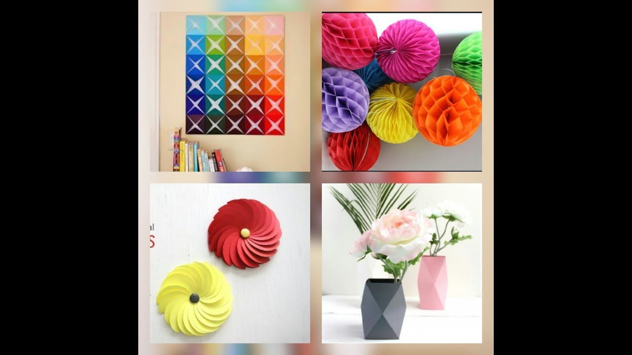 Diy Room Decor 6 Easy Crafts Ideas At Home How To Make A Room Decoration Easy Paper Craft In 2020 Easy Paper Crafts Easy Crafts Craft Room Decor