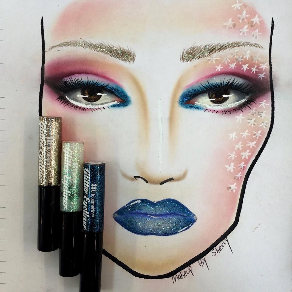 Ultra-talented IG'er makeupbysherry used our Glitter Eyeliners to make this stunning face chart. We want this look in real life! ★★★