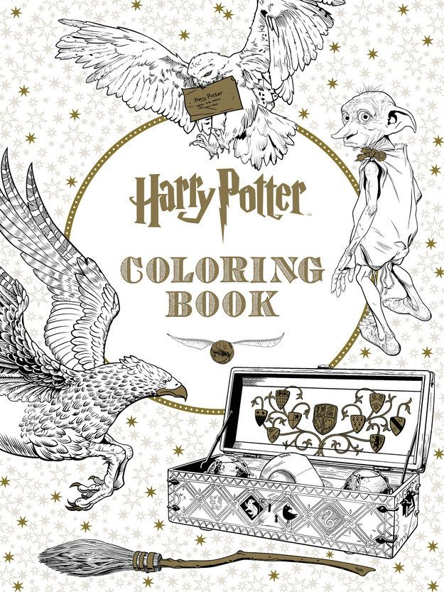 There's a Harry Potter coloring book!