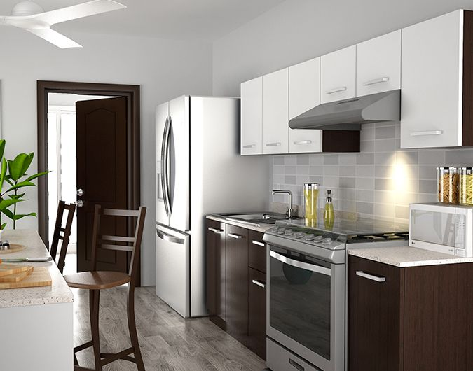 Dise a tu cocina para espacios peque os cocinas para for Disena tu cocina en linea
