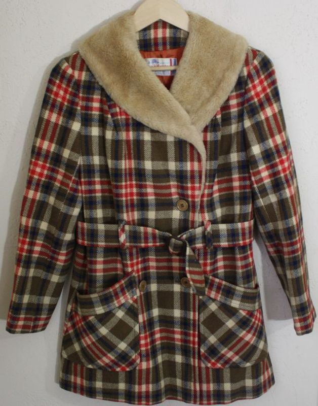 classic plaid pendleton | Plaid coat, Plaid, Fur lined coat