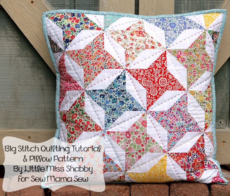 Friendship Star Pillow Feature & Giveaway - LMS   This Makes Me ... : friendship quilt block pattern - Adamdwight.com