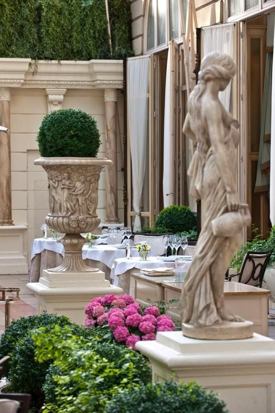 Ritz, Paris.  Every time a client who I am designing a European home for asks what should the terrace look like?  This scene pops into my head.   Leo Dowell Interiors.com
