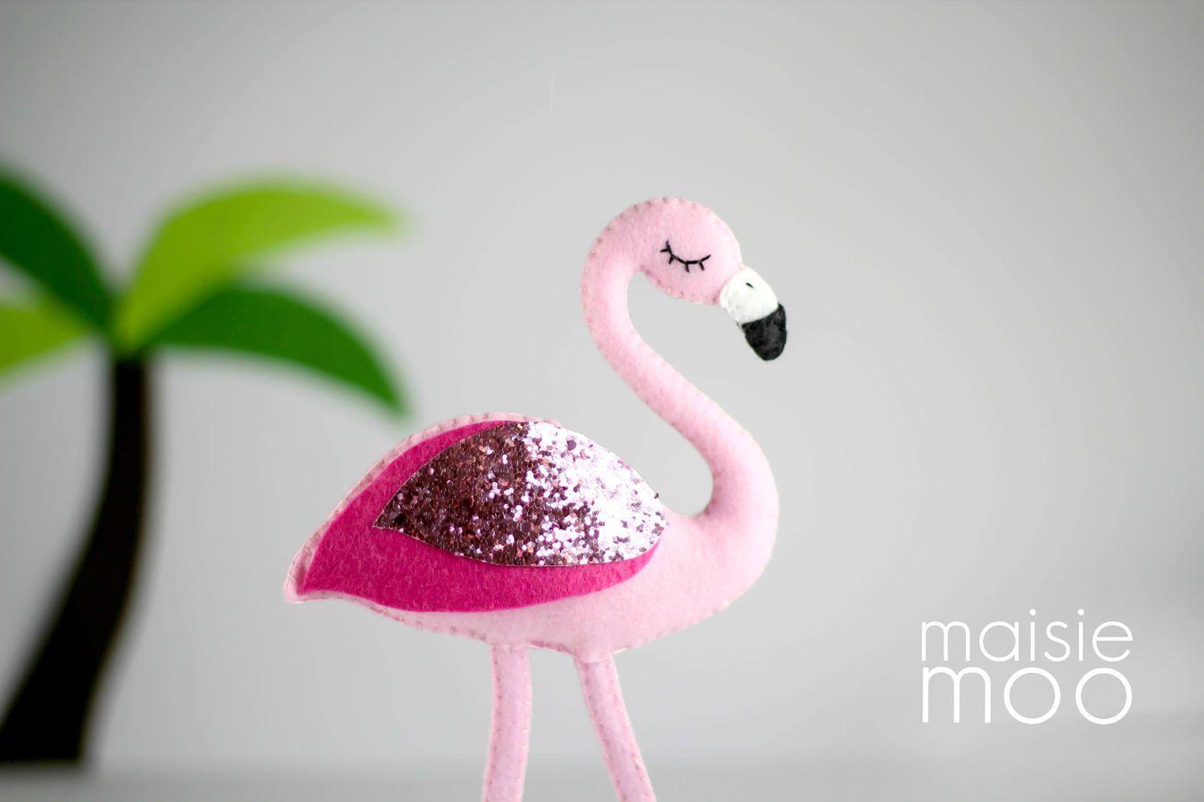 Flamingo Sewing Pattern - Felt Sewing Pattern - Felt Flamingo - Baby ...