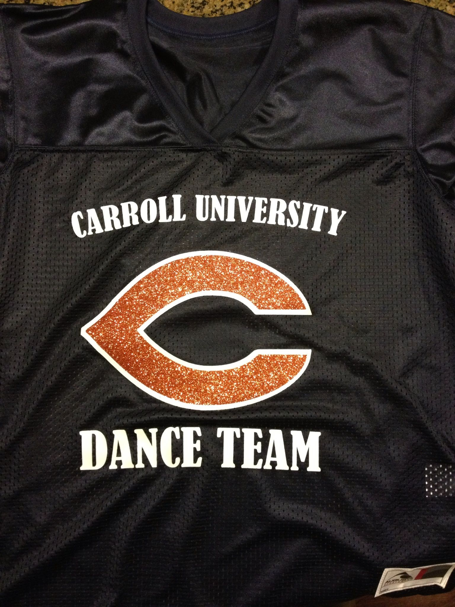 Carroll University Dance Team football jersey Dance teams