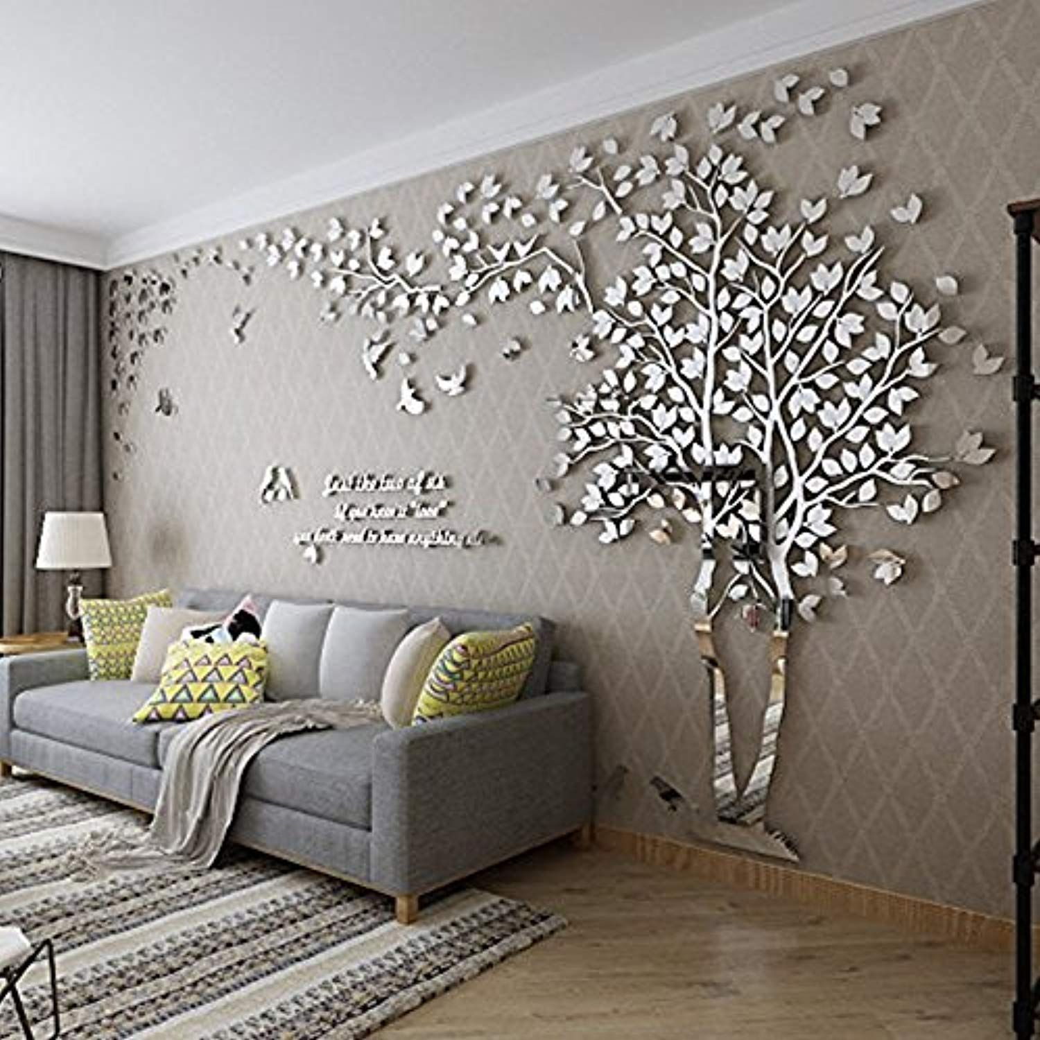 diy 3d giant couple tree wall decals wall stickers crystal on wall stickers id=92189