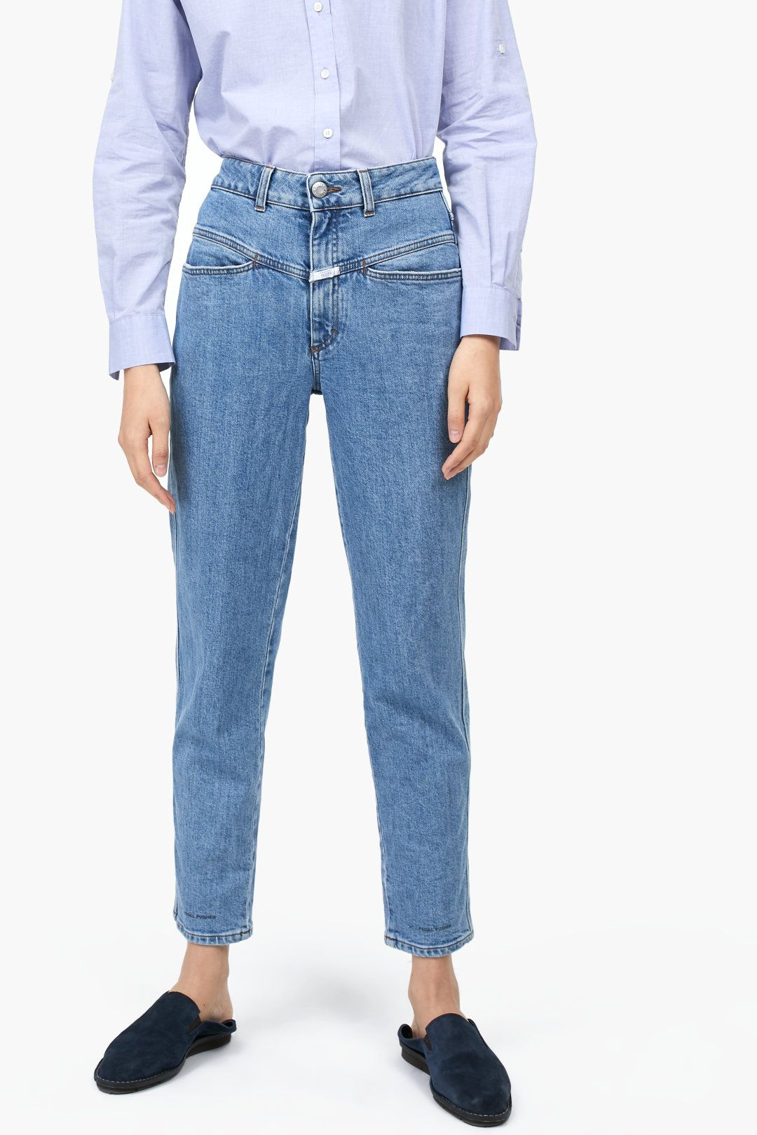 73e6ec2b18 Pedal Pusher Authentic Blue Stretch Denim   Shopping Cart   Jeans ...