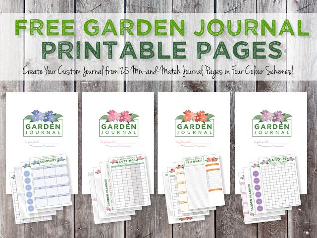 Garden Journaling And Planning Free Journal Page Printables