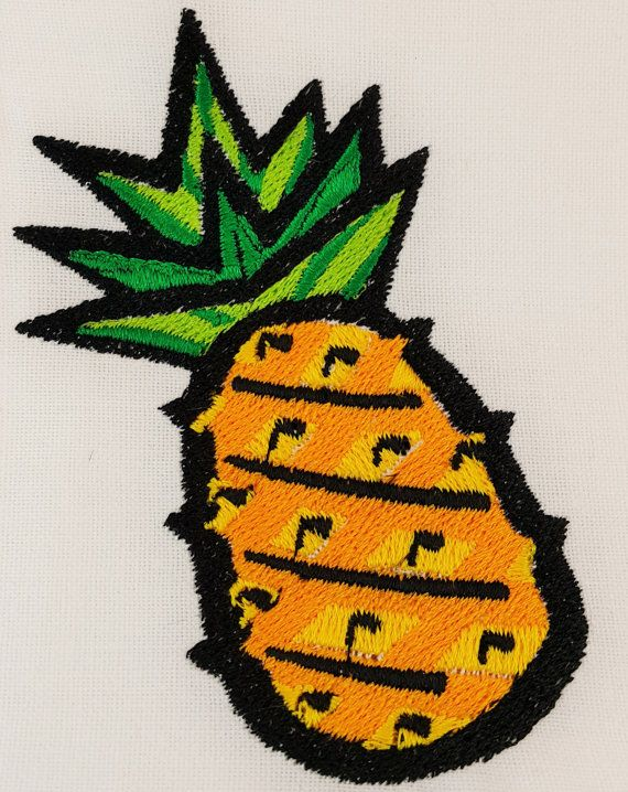 Digital Embroidery Design Pineapple By Embroiderydesignsbrn