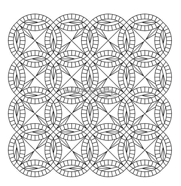 Bali Wedding Star 4x4 Line Drawing, Made by