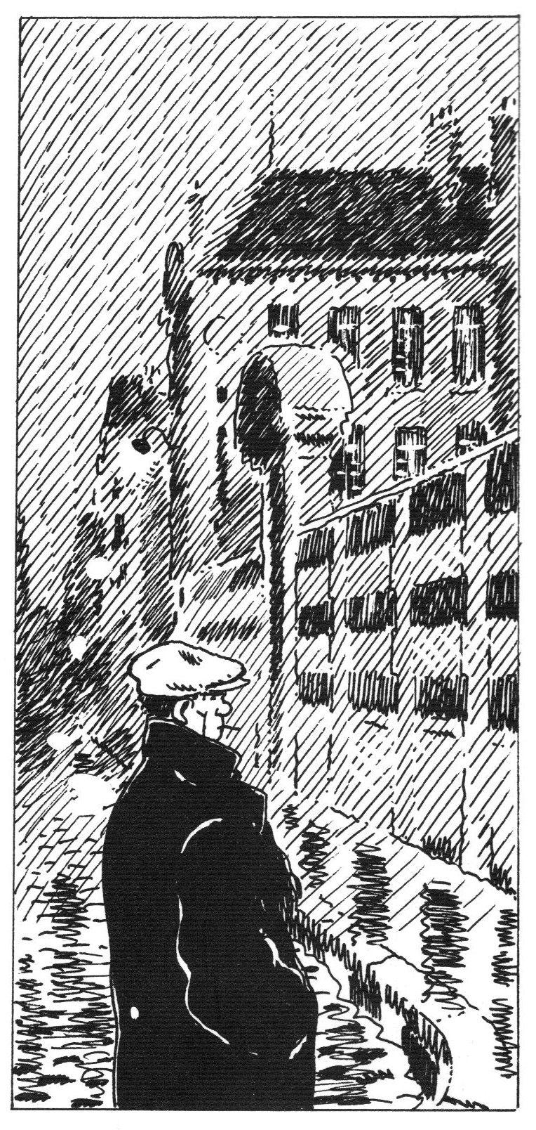 yleiskuva, huomaa viivavarjostus, Jacques Tardi