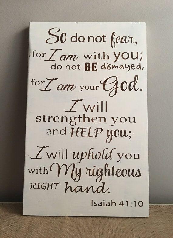 Isaiah 41 10-bible verse wall art-bible verse by GrantParkDesigns ...