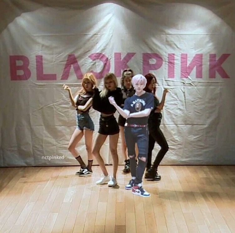 Black Pink And Nct Tayeang Lee Taeyong Black Pink Dance