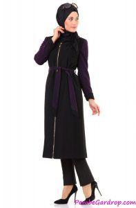 542f45ed7a166 Kayra Çift Renkli Kaban Modeli İncelemesi #tesettür #moda #fashion  #tesettürmodası #ferace