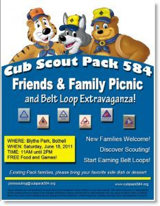 Cub Scout Recruitment Flyer Samples Pack Recruitment Flyer