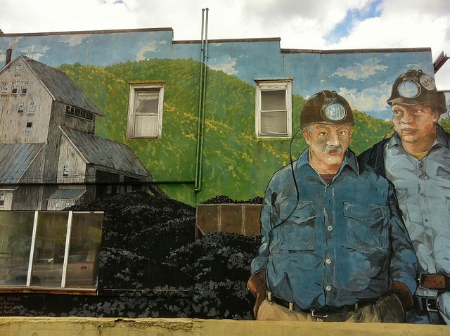 This little town- Richwood, West Virginia- on the edge of the Monongahela National Forest has some spectacualar murals, including this homage to the miners that have shaped the state. Discover more at www.discoveramerica.com