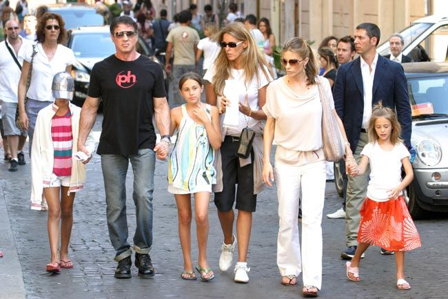 Sylvester Stallone and wife Jennifer Flavin bring their ...