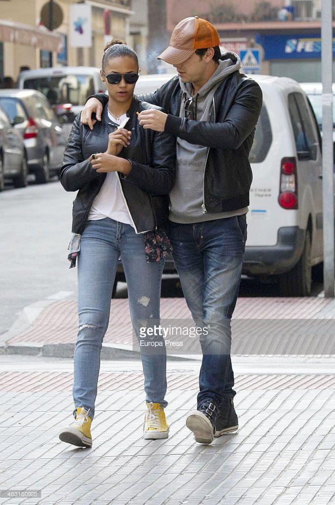 Mario Casas and Berta Vazquez are seen on January 13, 2015