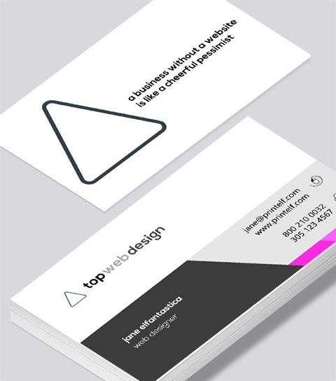 Modern contemporary business card design web designer business card web designer business card modern design reheart Gallery