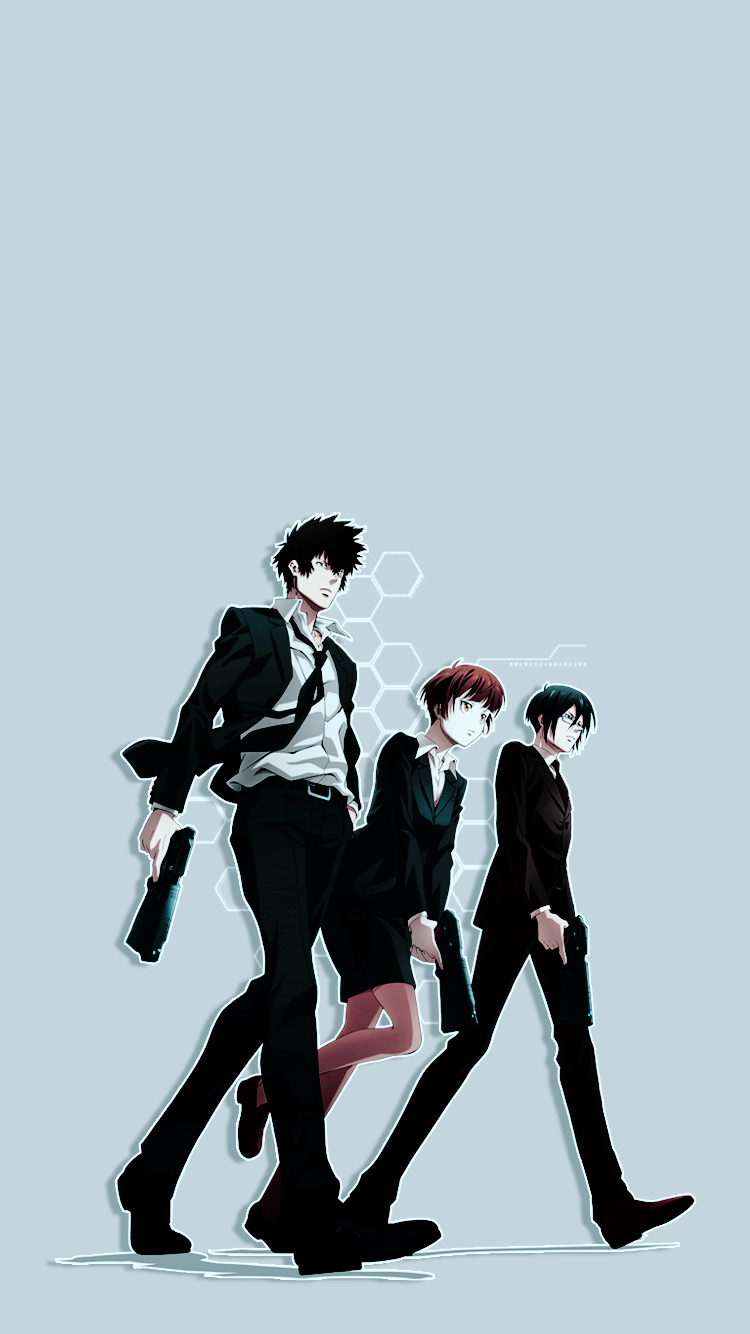 Psycho Pass Wallpapers Ginoza Akane Kougami For Anonymous Feel
