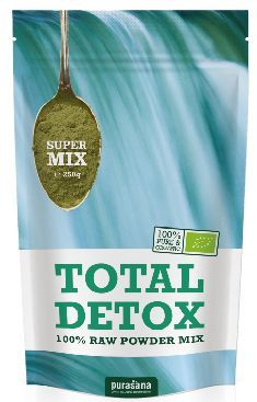 purasana TOTAL DETOX Super Mix 100 % Raw Powder 250 Gramm