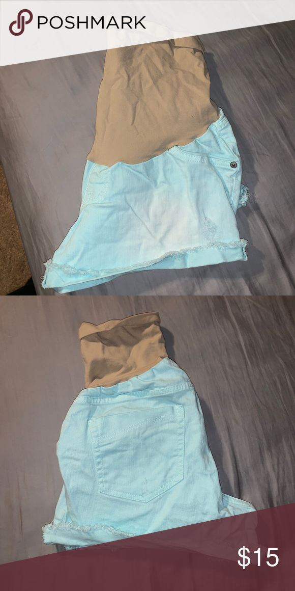 Light blue Maternity Shorts Stretchy maternity shorts! Indigo Blue Shorts
